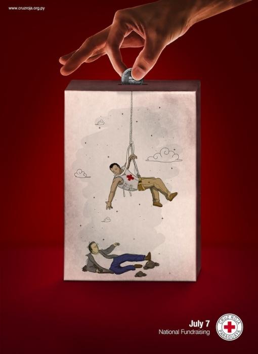 Опустите монетку: креативные плакаты для общества Красного Креста