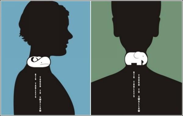 Глотни слона: минималистичная реклама лекарства