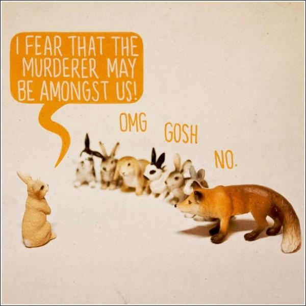 Юмористические картинки Аледа Льюиса: «Боюсь, что убийца среди нас»