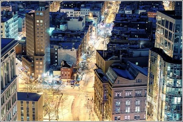 Городские фотографии Эндрю Мейса: ночные огни