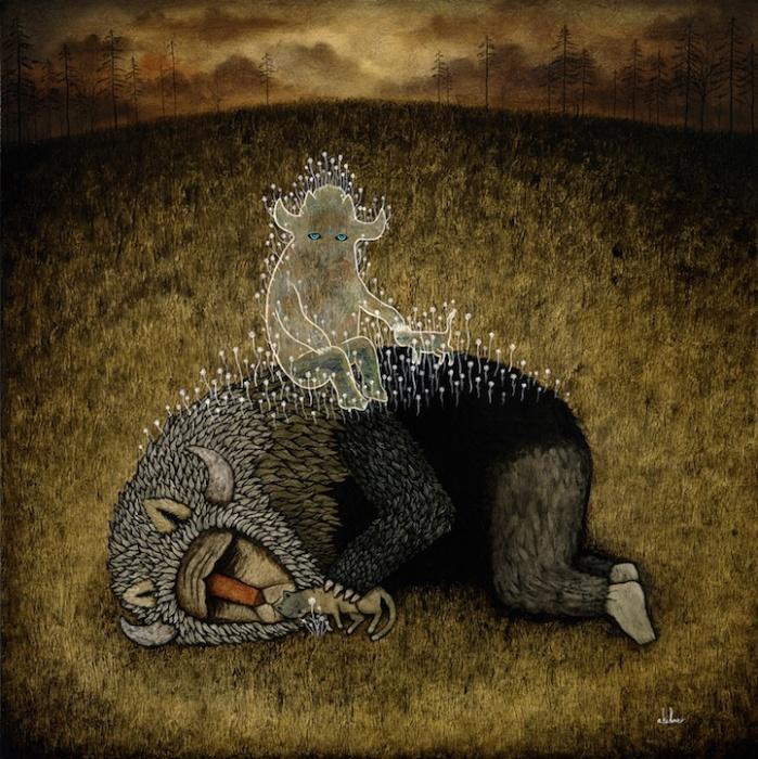 Меланхоличные картины Энди Киу