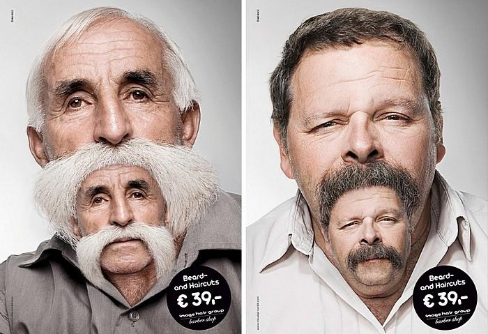 До и после. Оригинальная реклама парикмахерской