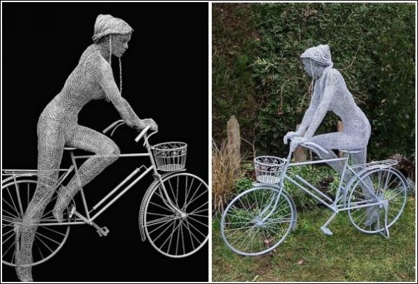 Феи, люди и звери Дерека Кинцетта: велосипедистка