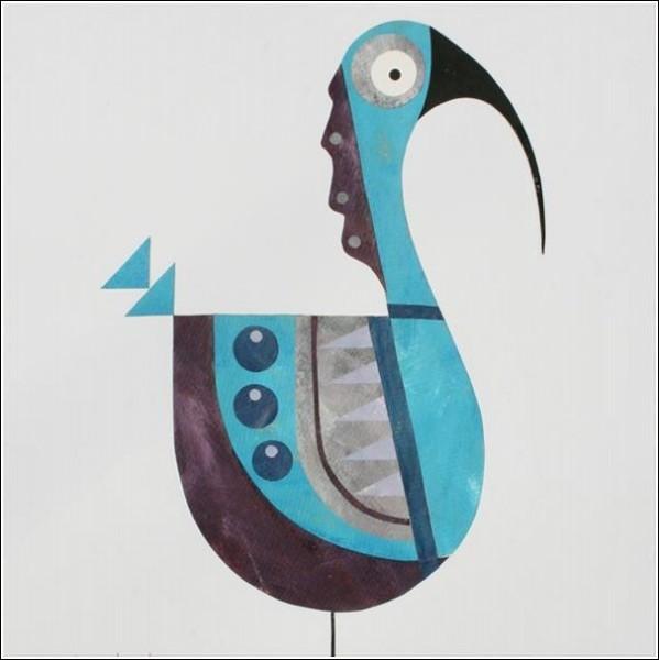 Яркие крылья, большие удивленные глаза, куцый хвостик - вот и птичка готова