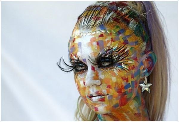 Фестиваль бодиарта: рисунки на лице и волосах