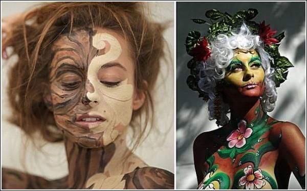 Австрийский фестиваль бодиарта: красочное арт-шоу