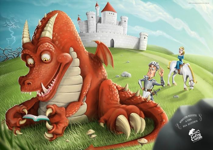 О драконах ни слова, но все равно интересно: забавная книжная реклама