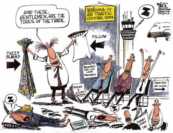 Курсы авиадиспетчеров глазами карикатуристов
