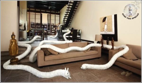 Кроличьим духом пахнет: необычная реклама одеколона для животных