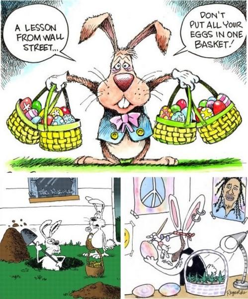 Кто подставил пасхального кролика? Карикатуры на тему прошедшего праздника