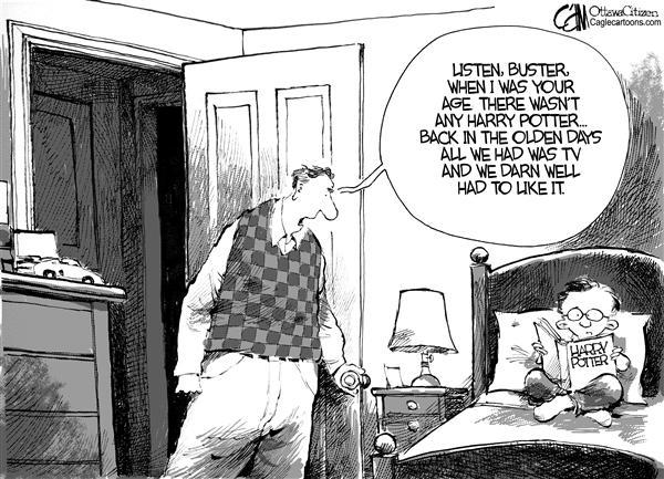 Гарри Поттер и художники-карикатуристы: спасибо г-же Роулинг за наше счастливое детство!