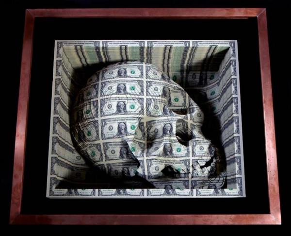 Небедный Йорик Скотта Кэмпбелла: техника вырезания из долларов
