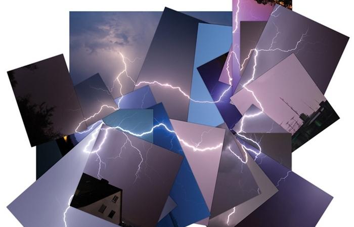 Ударила молния - к креативу: забавный арт из снимков грозового неба
