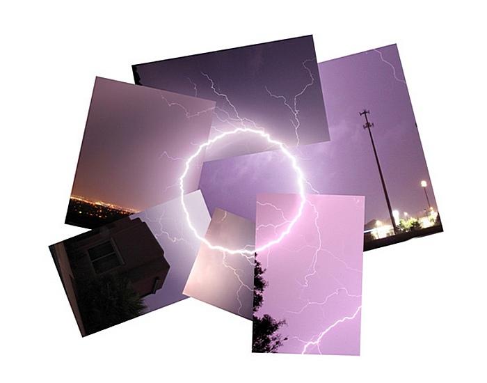 Ударила молния - к креативу: грозовой круг