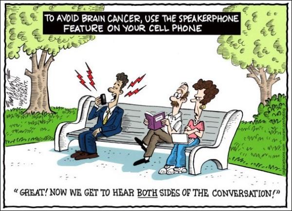 Художники-карикатуристы о вреде мобильных телефонов: слишком громкая связь