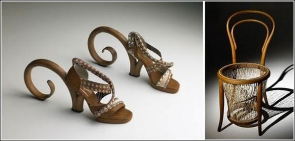 Искусство не думать о функциональности: босоножки не пригодны для повседневной носки, а стул - для сидения