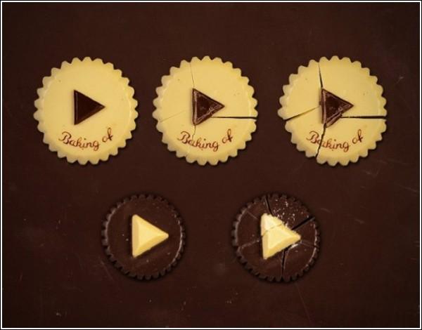 Съедобный сайт: шоколадные кнопки