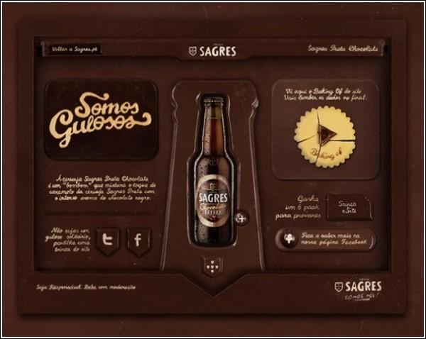 Съедобный сайт для пива со вкусом шоколада