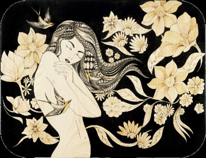 Пестрые волосы-мысли: гравюры на дереве Цил Лоуренс