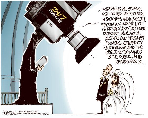 Недреманное око прессы глазами карикатуриста Джона Коула