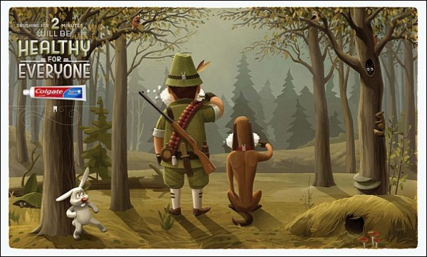 Удрать от охотника за 120 секунд: забавная реклама зубной пасты