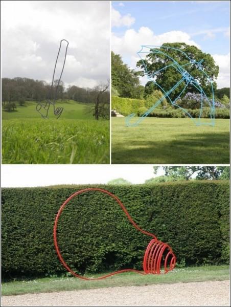 Современная скульптура Майкла Крейг-Мартина под открытым небом