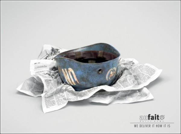 Газетная реклама из Марокко: каска