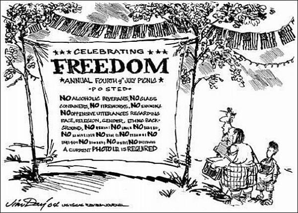 Свобода ли это? Карикатуры на тему Дня независимости США