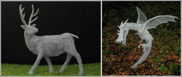 Скульптуры Дерека Кинцетта: звери