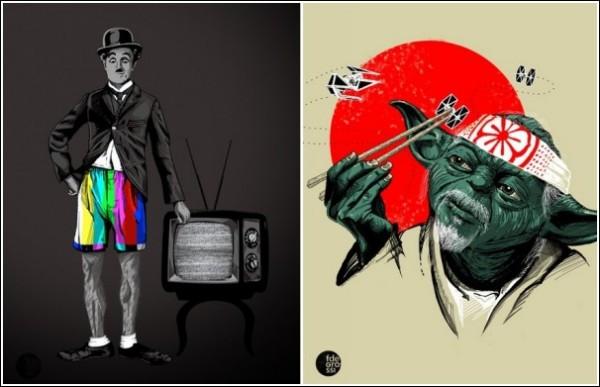 Огни большого телевизора: юмористические рисунки Фернандо Дегросси