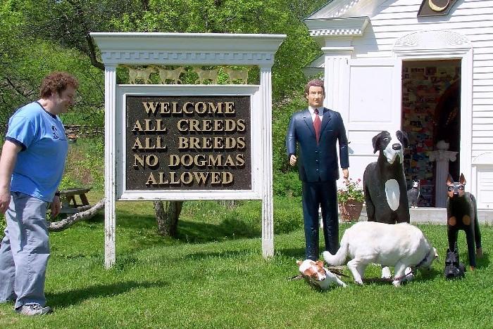 «Добро пожаловать! Все вероисповедания. Все породы. Никаких догм»