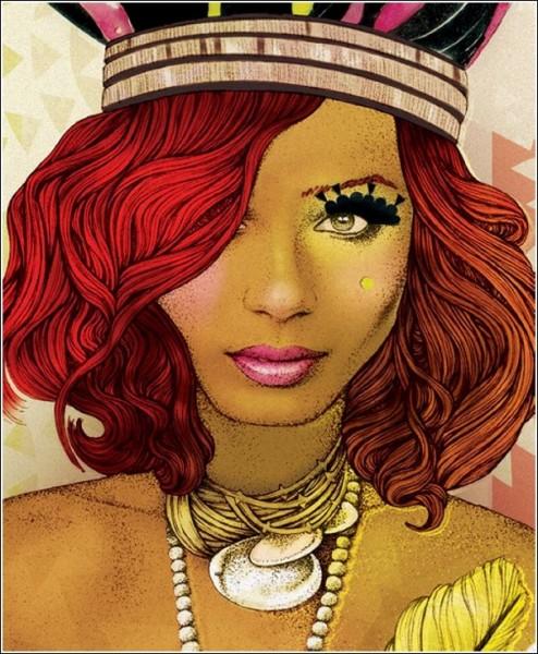 Женский взгляд арт рисунки элоди