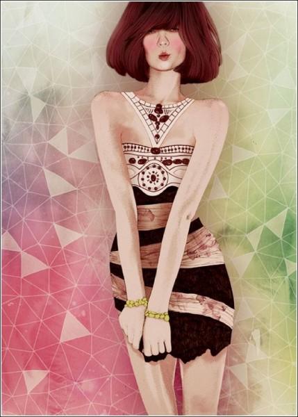 Страстью Элоди всегда были арт-рисунки на тему женской красоты и моды