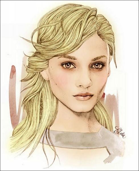 Иллюстрации Элоди: главное - глаза