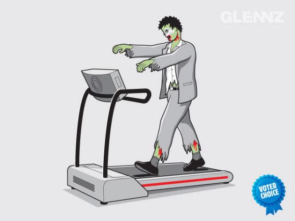 Веселые рисунки Гленна Джонса: тренажер для зомби