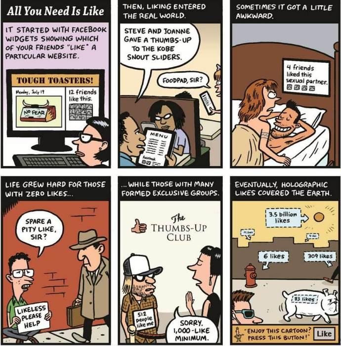 Эра лайкования: прогноз художников-карикатуристов