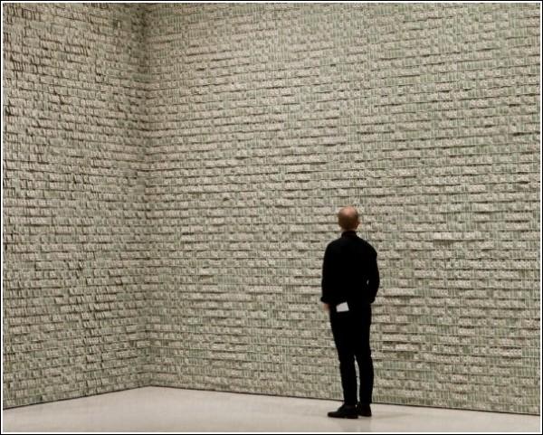 Однодолларовые «обои» Ганса-Петера Фельдманна