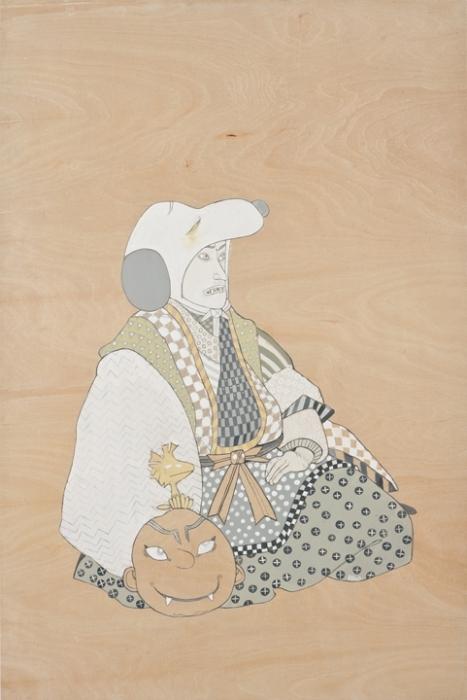 Мультяшные персонажи в облике самураев: Снупи
