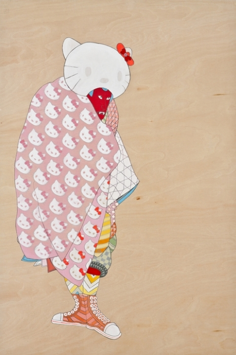 Мультяшные персонажи в облике самураев: Hello Kitty