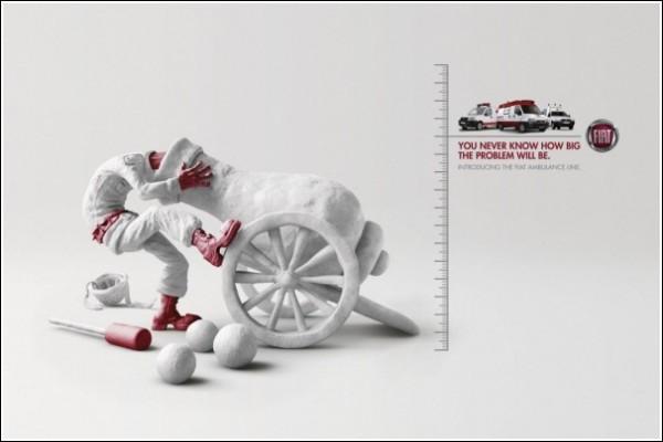 Креативная реклама автосервиса: пушка