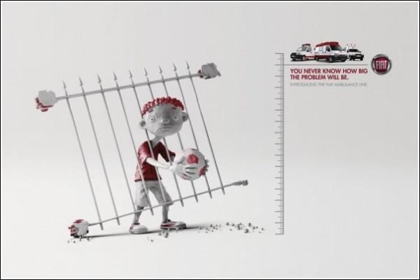 Креативная реклама автосервиса: забор