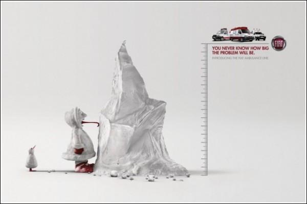Забавная реклама автосервиса: айсберг