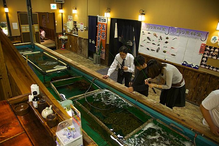 Аквариумы и рыбачащая публика