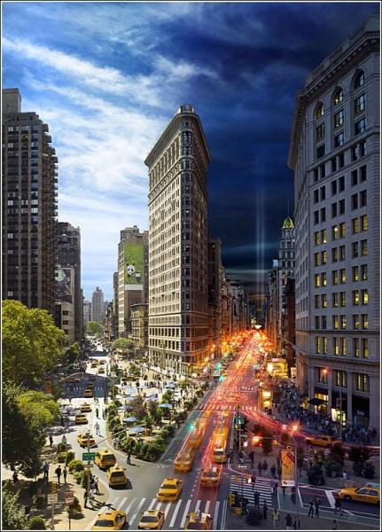 День и ночь в одном кадре: удивительные фотографии Нью-Йорка