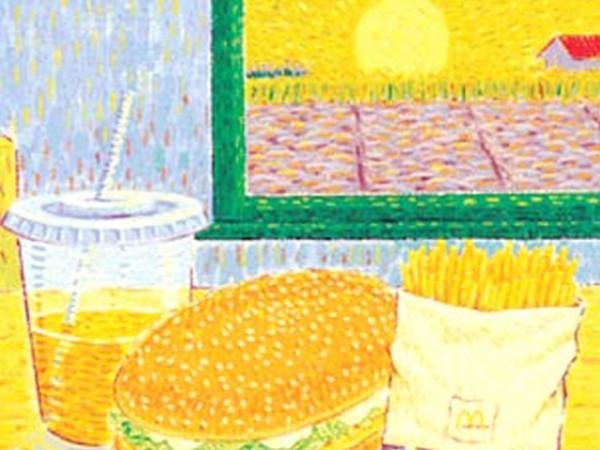 Пищевой дневник: рисунки еды Дэвида Мелдрума
