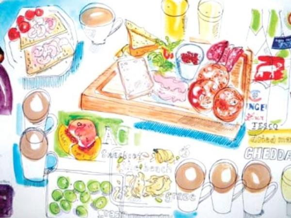365 рисунков еды на память