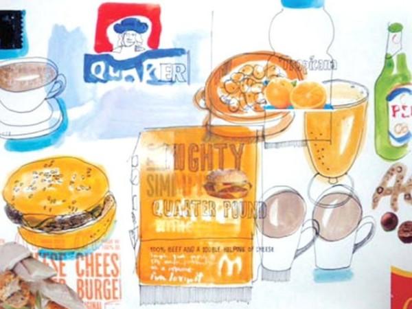 Рисунки еды Дэвида Мелдрума: пищевая исповедь сына XXI века