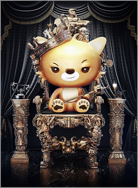 Царь зверей: цифровая живопись Ника Эйнли