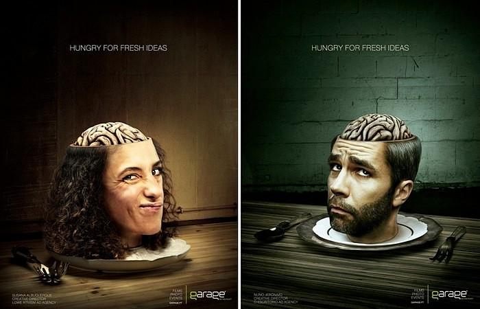 В свежих мозгах - свежие идеи: самореклама креативного агентства «Гараж»