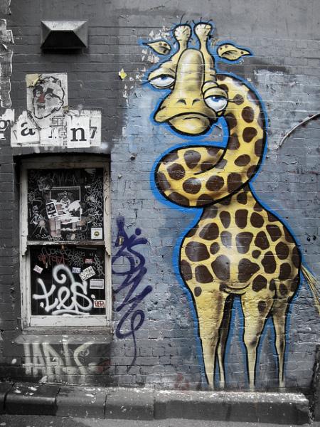 «На озере Чад»: жирафы в современном искусстве